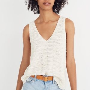 Madewell Crocheted Sweater Tank XS
